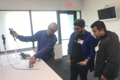 Bryan Sebestian and his dad with Andrei Damianov at Richard Wolf Medical Instruments Corporation on April 17 2019 Future Institute Apprenticeship Visit